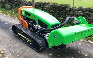 Elmsolutions with Verge/flail Mower at Swanwick