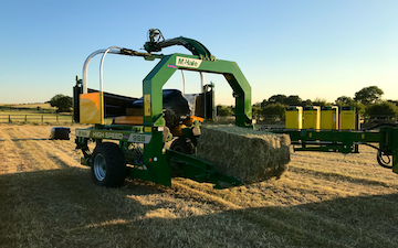 Aeh services with Large square baler at Cholsey