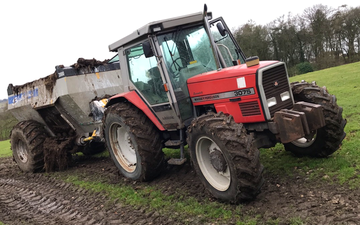 W fletcher with Manure/waste spreader at Shottle