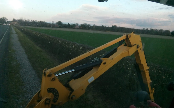 J r hudson with Hedge cutter at Whitemoor Lane