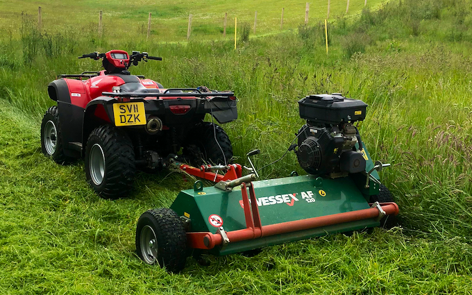 Ksm land services with Verge/flail Mower at Inverurie