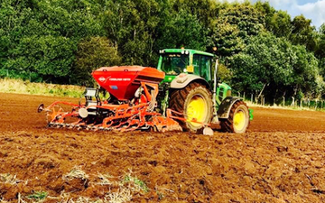T&b agricultural contractors ltd with Drill at United Kingdom