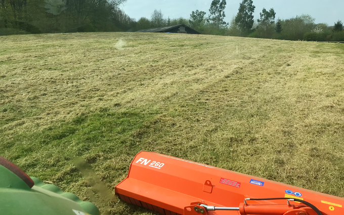 Peascliff contracting  with Verge/flail Mower at Barkston