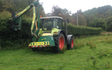 David barron  with Hedge cutter at Tarland