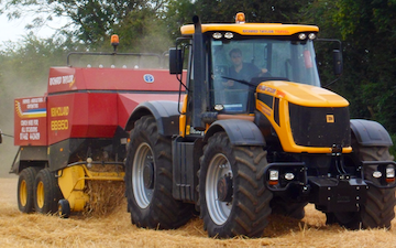 Richard taylor travel  with Large square baler at Saint Ippolyts