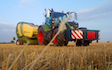 W. dale & son with Round baler at Ripon