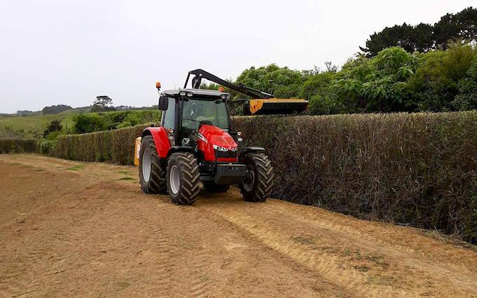 Hyland hedgecutting ltd with Hedge cutter/mulcher at Aka Aka