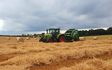 B lister agric contracting with Round baler at York Road