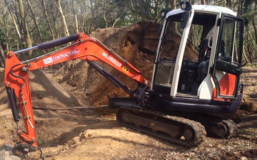 Cru contractors ltd with Ditch cleaner at Hadleigh