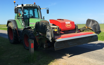 Grassland farm services with Mower at Greenland Lane