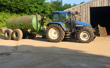 R and m coombes  with Slurry spreader/injector at North Bovey