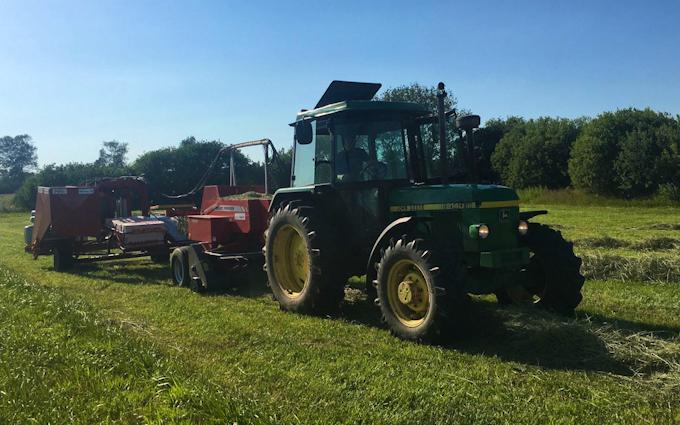 Agro service med Wrapper ved Ebberup