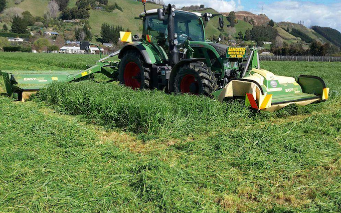 Sangstercontracting  with Round baler at Appleby
