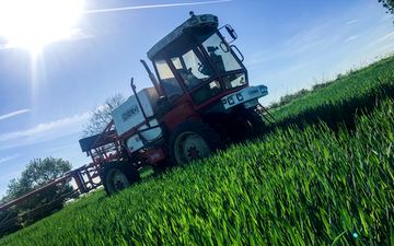 J w wellburn & son agricultural services with Self-propelled sprayer at Havercroft