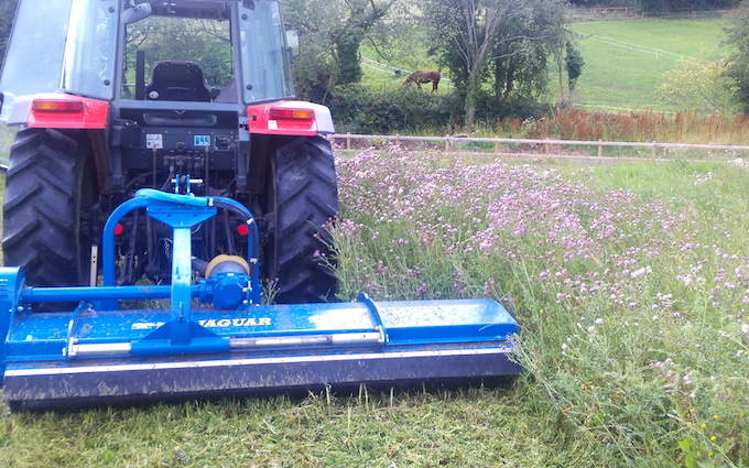 Ftgu-services with Verge/flail Mower at Chesterfield Road
