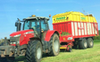 Bj rodenhurst with Forage harvester at Farlow