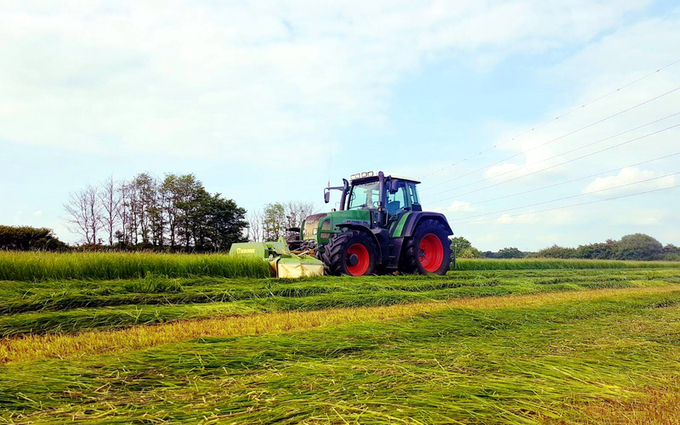 Stud farm contracting  with Mower at United Kingdom