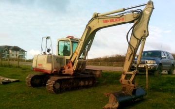 R.sanders plant hire  with Excavator at United Kingdom