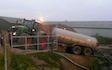 J.tams contracting with Slurry spreader/injector at Talke Pits