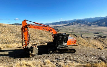 Mkm contracting with Excavator at West Melton