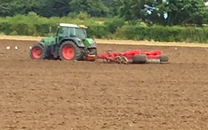 Rookery farm ltd  with Seedbed cultivator at Wortham