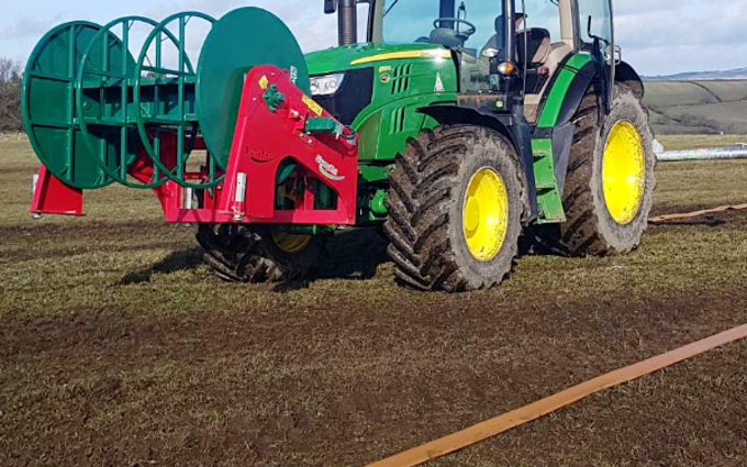 Ns&c robinson  with Slurry spreader/injector at Wark