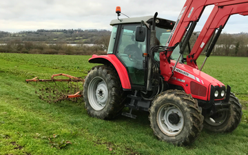 Douch contracting  with Chain harrow at United Kingdom