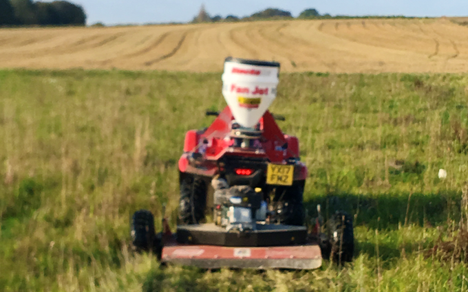 J w wellburn & son agricultural services with Topper at Havercroft