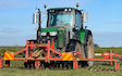 Jon richards contracting  with Meadow aerator at East Hewish