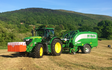 A and hr salisbury with Round baler at Walkmills