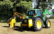 Rb agri services with Hedge cutter at New Alresford