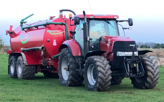 Johnston agri services with Vaccum tank at United Kingdom