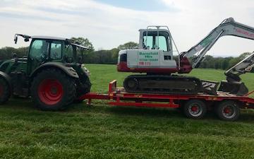 Barnsfold hire with Excavator at Marple