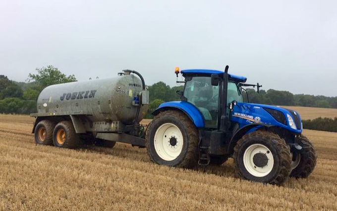Allison's of liverton with Slurry spreader/injector at Liverton