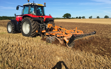A j tatters  with Stubble cultivator at Piper Lane