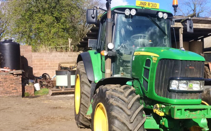 Reid contracting  with Meadow aerator at Ballencrieff