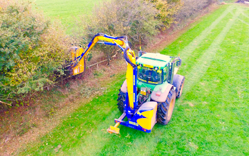 Hatts group with Hedge cutter at Rodmarton
