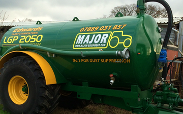 Edwards agricultural services  with Slurry spreader/injector at Bamber Bridge