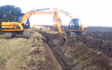 R p thain  with Ditch cleaner at United Kingdom