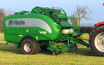 B d bedford agri with Baler wrapper combination at Honeysuckle Way