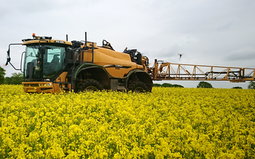 J l davies contracting  with Self-propelled sprayer at Tushingham