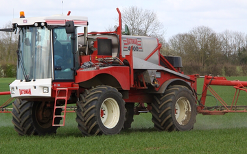 Cowton farming company  with Self-propelled sprayer at North Cowton