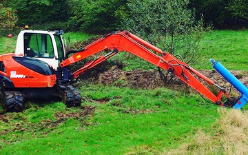 L. j. meaden  with Excavator at United Kingdom