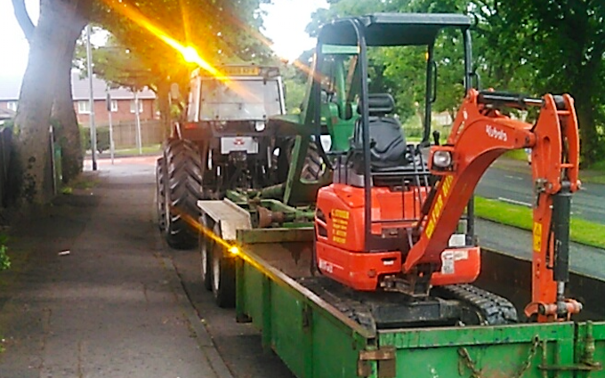 J brierley agricultural with Drainage Trencher at Rochdale