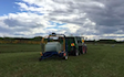 Bleeker ag services with Baler wrapper combination at Otaio