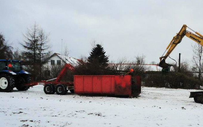 Lillevang med Container ved Vejle