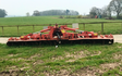 Powells contracting  with Power harrow at Hay-on-Wye