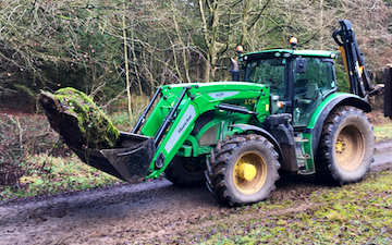 A c harris contracting  with Tractor 100-200 hp at Yeo Bank Lane