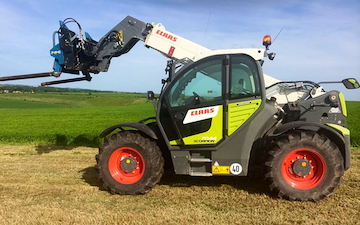 Cornbury farm contracting ltd with Telehandler at West Lavington