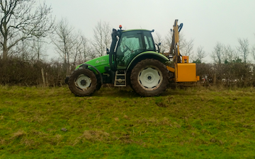 J m elson  with Hedge cutter at Rugby